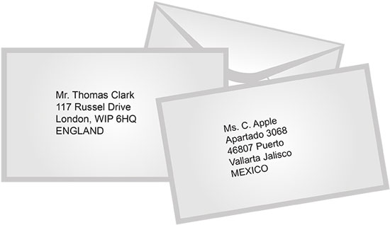 International Mail Sample Envelope